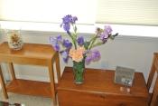Iris and roses...pretty, huh?