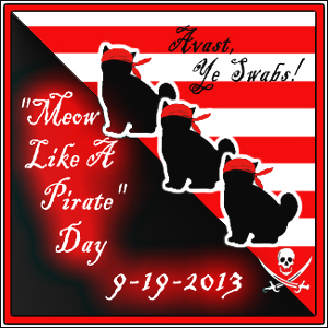 Meow Like A Pirate Day 9.19.2013