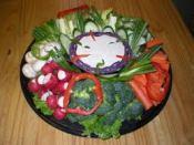 Veggie tray for piggies, bunnies, etc
