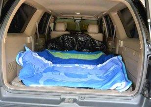 Cargo area prepped