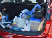 Trunk loaded with supplies